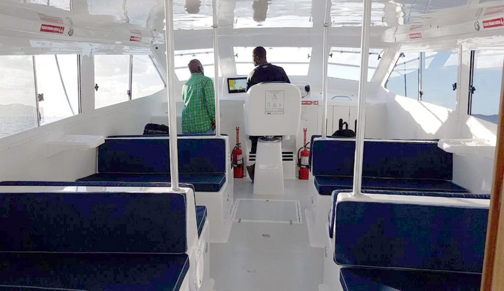 RNS Charters is now operating a twice-daily ferry from Trellis Bay to  Anegada. It stops in Gun Creek, Virgin Gorda, in between.Photo:  ANEGADAEXPRESS.COM